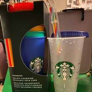 Starbucks Color Changing Cups & Confetti Cup